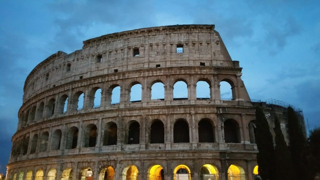 colosseum, fall in tuscany