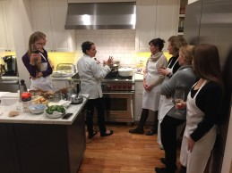 authentic italian cooking, class demonstration