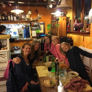 dinner with kids, fall in tuscany