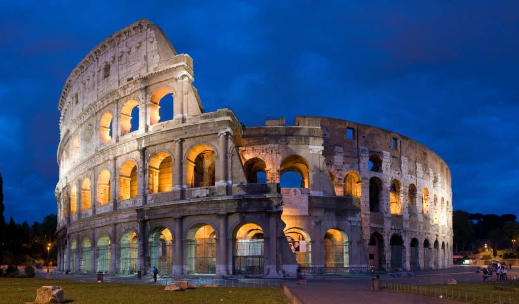 Rome, Coliseum, Night
