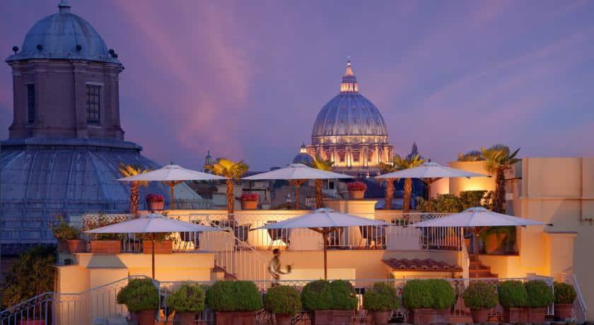 Raphael Hotel, Rome, Terrace, Al Fresco, Bar, Bio Hotel