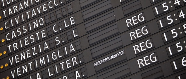 Schedule, Timetable, Italy, Train