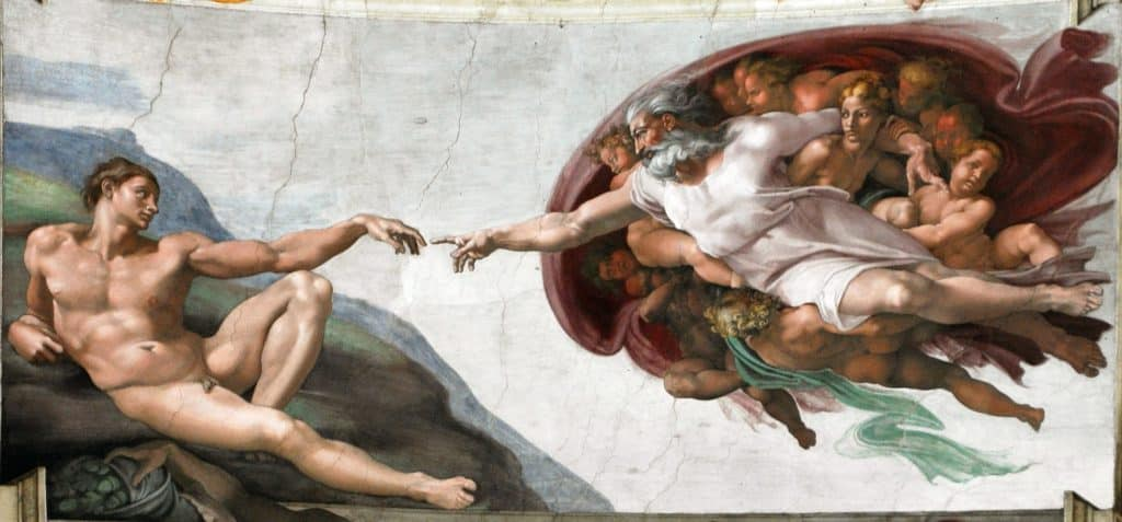 fresco painting at the sistine chapel