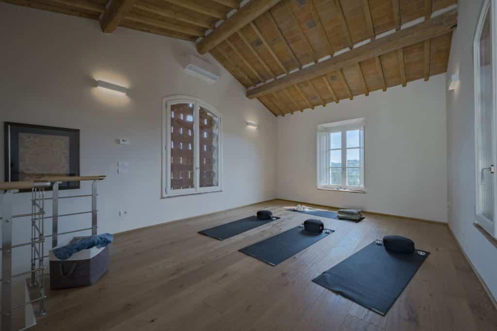 Yoga and meditation studio at Casa Namaste, a modern villa in Florence