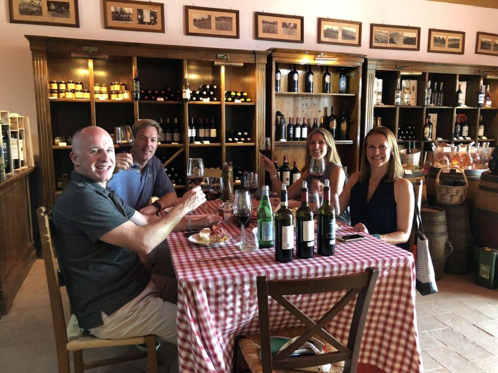Sampling Tuscan food and wine