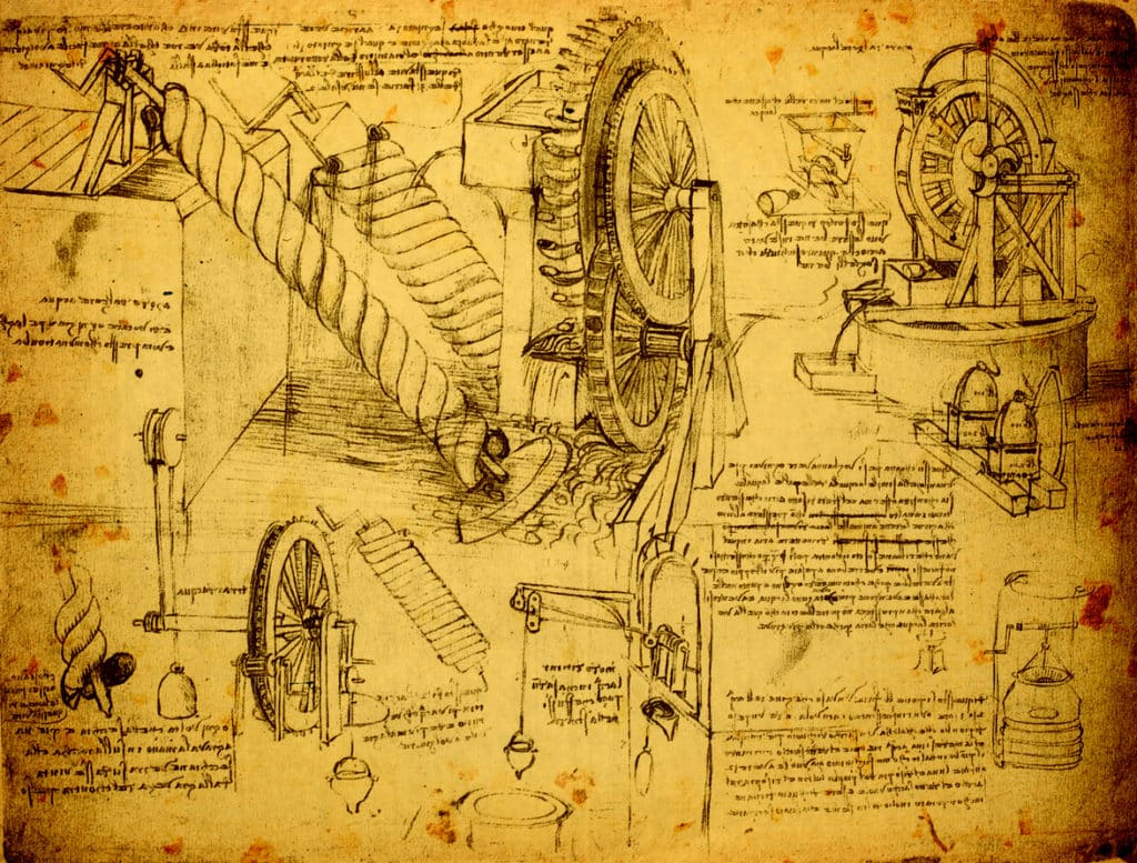 journal entry of Leonardo da Vinci