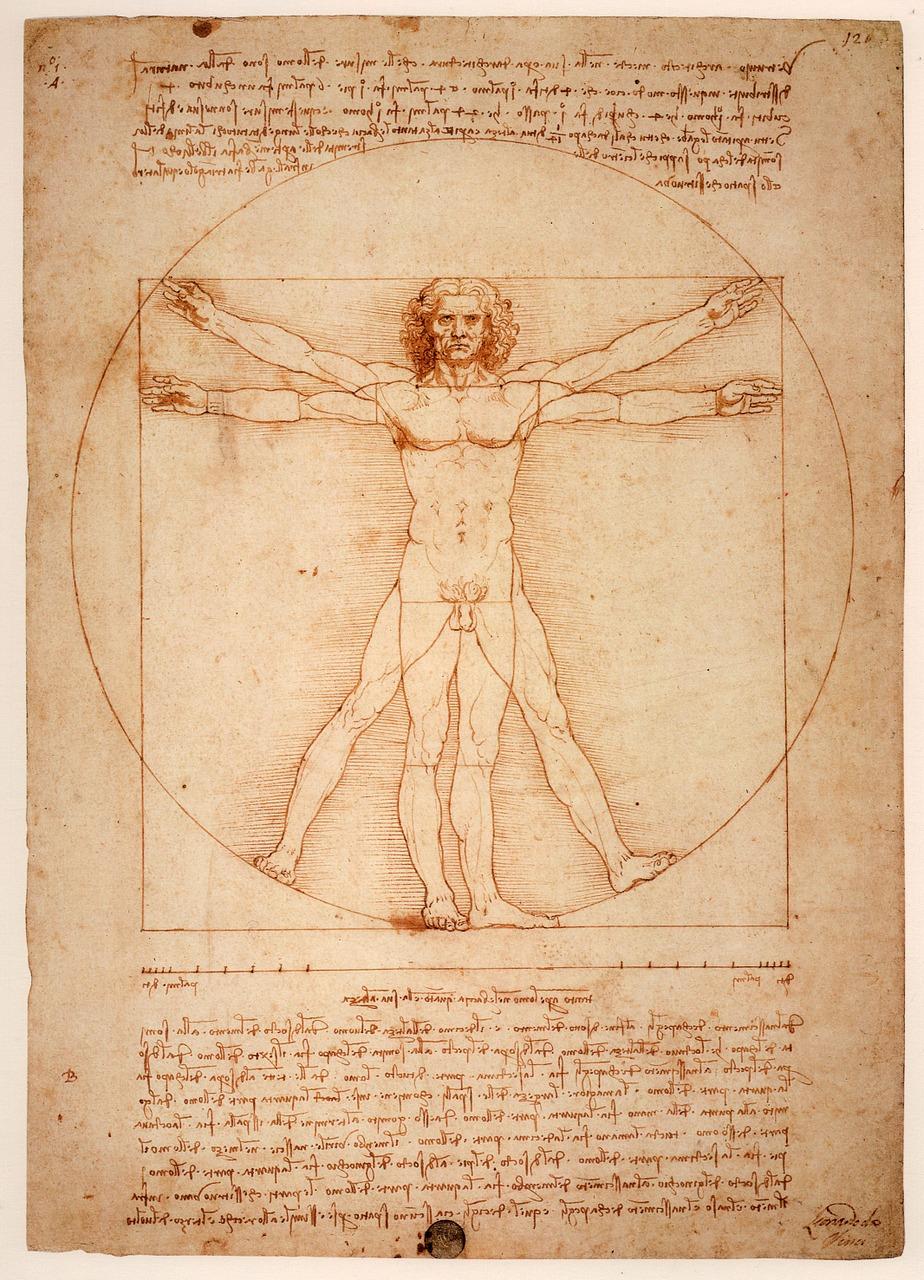 Renaissance man by Leonardo da Vinci